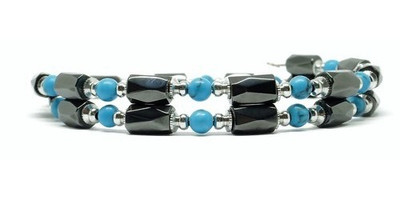 Simulated Turquoise Small Wrap Around - Magnetic  Bracelet-Anklet