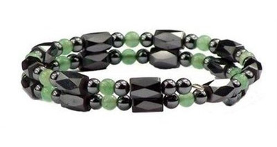 Simulated Jade Small Wrap Around - Magnetic Bracelet-Anklet