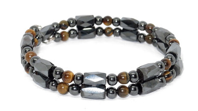 Simulated Tiger Eye Small Wrap Around - Magnetic Bracelet-Anklet