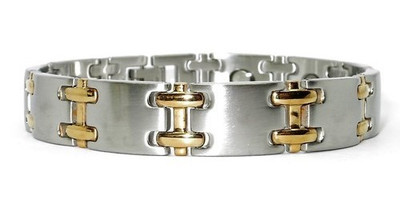 Combo Sideways H - Stainless Steel Magnetic  Bracelet