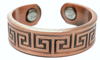 Copper Mystic Patterns - Magnetic Therapy Ring