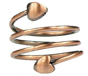 Copper Plated Spiral - Magnetic Therapy Ring