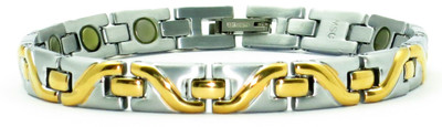 Ladies Gold Tone Surf - Gold-Plated  Titanium Magnetic  Bracelet