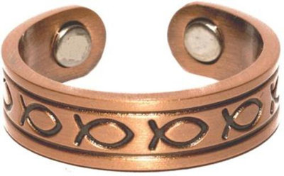 Ichthus - Solid Copper Magnetic Therapy Ring