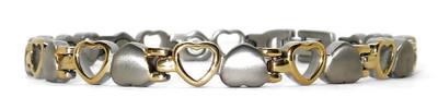 Opposites Attract -  Titanium Magnetic Therapy Bracelet