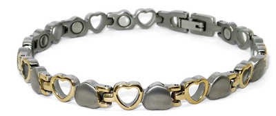Opposites Attract -  Titanium Magnetic Therapy Bracelet