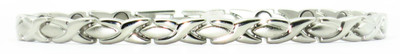 XOXO Magnetic Ankle Bracelet - silver-plated
