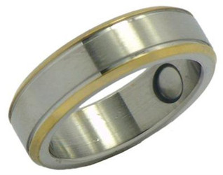 Stainless Steel Magnetic Therapy Ring (WSR13)