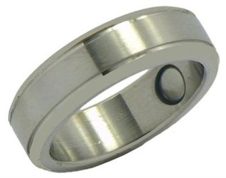 Two Lines - Stainless Steel Magnetic Therapy Ring