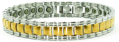 Gold Tone Planet - gold-plated Stainless Steel Magnetic  Bracelet