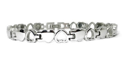 Opposites -  Silver-Plated  Magnetic  Therapy Bracelet