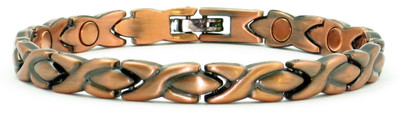 Copper XOXO Magnetic Therapy Anklet