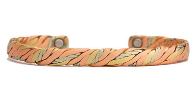 Sergio Lub Sweatlodge - Brushed Copper Magnetic  Bracelet