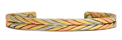Sergio Lub Wheat - Copper Magnetic Therapy Bracelet - Made in USA!