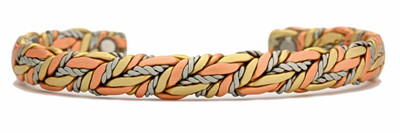 Sergio Lub American Quilt - Copper Magnetic Therapy Bracelet - Made in USA!