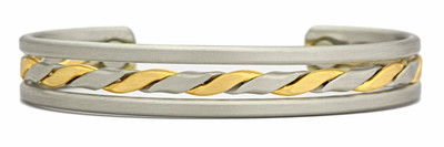 Sergio Lub Tournament Brushed - Magnetic Therapy Bracelet - Made in USA!