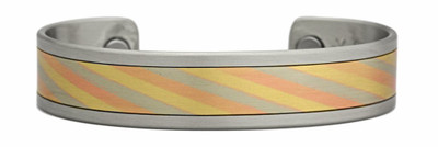 Sergio Lub Mokume Gane - Copper Magnetic Therapy Bracelet - Made in USA!
