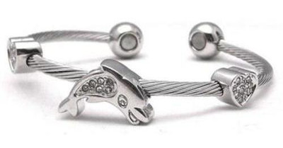 Ocean Love - Stainless Steel Magnetic Therapy Cuff