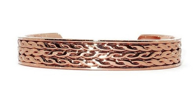 Stacked Braids - Solid Copper Magnetic Therapy Bracelet