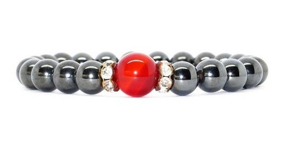 Hematite Blush - Magnetic Therapy Bracelet