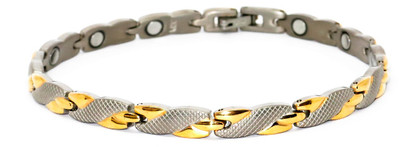 Twisted Embrace -  Titanium Magnetic Therapy Bracelet