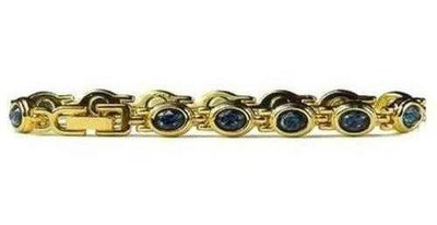 simulated Sapphire Dreams - Magnetic Therapy Bracelet