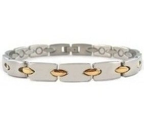 Gold Connection - gold-plated Stainless Steel Magnetic Therapy Bracelet