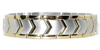 Hercules - gold-plated  Magnetic  Therapy Bracelet