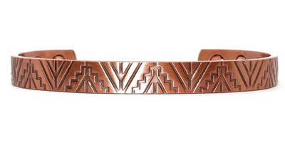 Stairways - Solid Copper Magnetic Therapy Cuff Bracelet