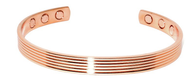 Parallel -  Magnetic Copper Cuff Bracelet
