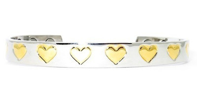 Gold Tone Hearts  gold-plated  Magnetic  Bracelet