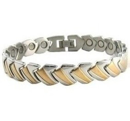 Gold Tone Play - gold-plated  Magnetic  Bracelet