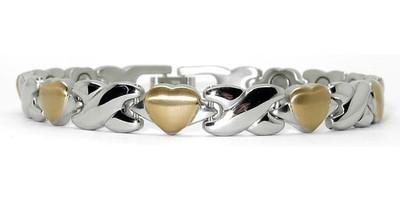 Heart-X-Heart Stainless Steel Magnetic Bracelet