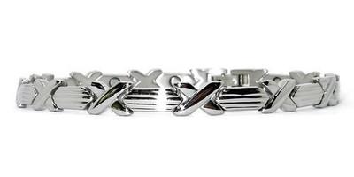 Silver  Hugs   silver-plated  Magnetic  Bracelet