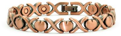 Dainty Hearts - Copper Magnetic Bracelet