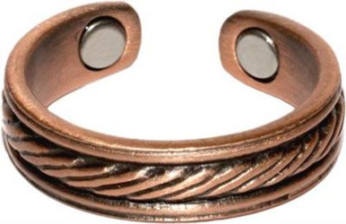 Copper Braided Center - Magnetic Therapy Ring