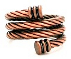 Copper Braided Spiral - Magnetic Therapy Ring
