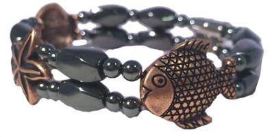 Hematite & Coppertone Nautical - Magnetic Therapy Bracelet