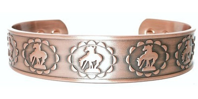 Bronco Solid Copper Magnetic Therapy Bracelet