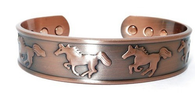 Wild Horses - Solid Copper Magnetic Therapy Bracelet