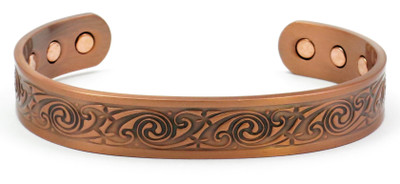 Serena Solid Copper Magnetic Therapy Bracelet