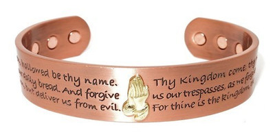 Lord's Prayer Solid Copper Magnetic Therapy Bracelet