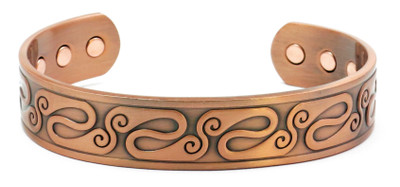 Folds - Solid Copper Magnetic Therapy Bracelet