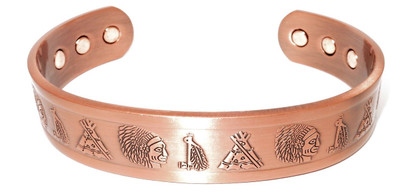 Connection Solid Copper Magnetic Therapy Bracelet