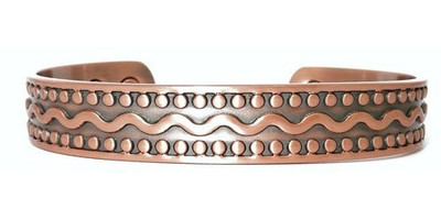 Flowing Water  -  Solid Copper Magnetic Therapy Bracelet