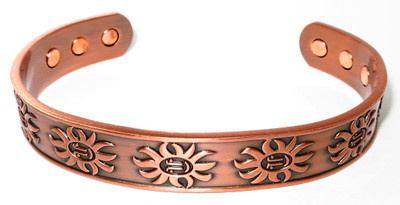 Sunny Day Solid Copper Magnetic Therapy Bracelet