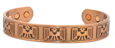Mayan Solid Copper Magnetic Therapy Bracelet
