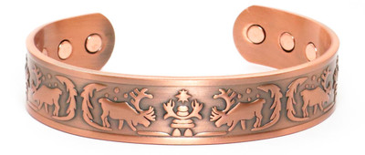 Alaska - Solid Copper Magnetic Therapy Cuff Bracelet