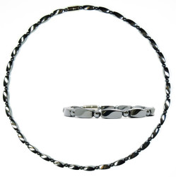 Hematite Twist Set - Magnetic Therapy Necklace and Bracelet Set