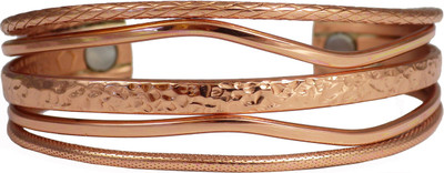 Sergio Lub Copper Tide Brushed Magnetic Copper Magnetic Bracelet - Made in USA!